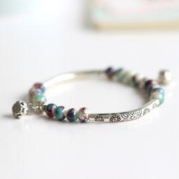 Wholesale Reincarnation Handmade original design multicolor ceramic beads bracelet Ethnic creative artistic accessory
