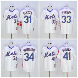 Wholesale 2016 New York Mets Mike Piazz Jerseys Matt Harvey Baseball FLEXBASE Jerseys Noah Syndergaard Tom Seaver Throwback Jersey