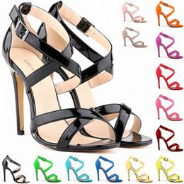 New Arrival Womens Summer Fashion High Heel Sexy Ankle Strap Stilettos Sandals Pumps Sapatos Femininos Sandalias D0088