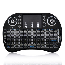 Wholesale Rii i8 Mini Wireless Backlit Keyboard Mouse Multi touch Backlight for MXQ Pro M8S Plus T95 S905 S812 Smart TV Android TV Box PC
