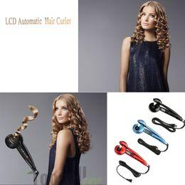 Wholesale 110V V NEW ARRIVAL Pro W LCD Hair Curler Clips Styler Curling Iron Pro LCD Hair Curler Automatic