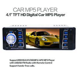 Promotion tuner audio vidéo 4.1inch stéréo voiture MP5 Video Player Bluetooth Main Free Audio USB FM Receiver In-Dash 1 DIN CAU_00N
