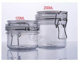 Hot 200G transparent plastic cream jar, sealing pot  sealing jar for cream gel facial scrup body scrub ,mask cream containing