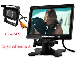 Wholesale BUS Truck Car Backup Camera x Inch TFT LCD Display Car Rear View mirror Headrest Monitor For car DVD Channel Video Input