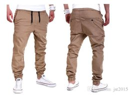Mens Joggers 2016 Brand Male Trousers Men Pants Casual Solid Pants Jogging Sweatpants Jogger khaki Black XXXL