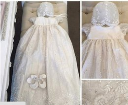 Wholesale 2016 Beauty New Robe Angela West Baby Girls First Communion Dress Lace Baptism Christening Gown Custom