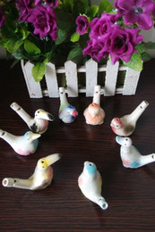 50pcs lot Free shipping Wholesale Ceramic Bird whistle High Quality Water bird Hot sale musical instruments & Toy