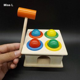 Children Hammering Wooden Toy Ball Hammer Box Early Learning Educational Intellectual Developmental Kids Gifts Teaching Prop