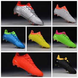 Wholesale X Firm Ground Cleats Boots Football Shoes FG Soccer Cleats Outdoor Football Boots Mens Soccer Shoes Botas Futbol Blue Black
