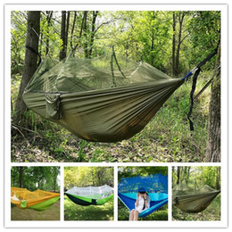 Wholesale Tactical air tent Portable Indoor Outdoor Hammock for Backpacking Camping Hanging Bed With Mosquito Net Sleeping Hammock