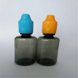 Papper étiquette gros noir Bouteille de cigarette électronique Bouteilles en plastique de licorne avec bouteilles de bouteille de preuve d'enfant à partir de etiquette électronique fournisseurs