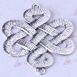 Chinese knot connector breasted antique Silver bronze DIY Pendant Fit Bracelets Necklace Charms Zinc Alloy Jewelry 750pcs lot 157