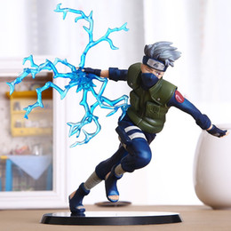 Wholesale 16cm Hokage ninja Naruto Hatake Kakashi Raiki Chidoli Jounin sha rinn gann konohagakure Sato action figure model PVC toy