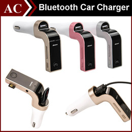 Wholesale Sd Card Radios - G7 Smartphone Bluetooth MP3 Radio Player Handfree FM Transmitter Modulator 2.1A Car Charger Wireless Kit Support Hands-free Micro SD TF Card