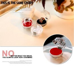 Wholesale Acrylic transparent box ring jewelry box Stud earrings box Hot selling jewely boxes Small box cm