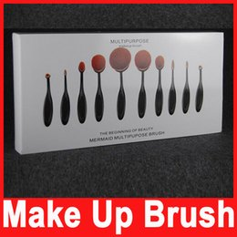Wholesale Makeup Brush Oval Tool Powder Foundation Kits Cream Powder Blush Toothbrush Brush Brushes Beauty Tools Cosmetic Accessories Sets