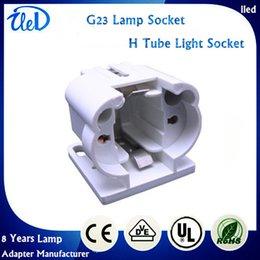 Wholesale G23 lamp holder H Tube W energy saving LED horizontal Plug Lamp Socket G23 two needle Plug Light BASE
