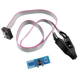 Wholesale SOIC8 SOP8 Test Clip For EEPROM CXX CXX CXX in circuit programming on USB Programmer TL866CS TL866A EZP2010 Hot