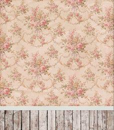 Pink Flowers Wallpaper Children Baby Vinyl Fotografia Backgrounds 5X7ft Photography Studio Decor Props Photo Backdrop