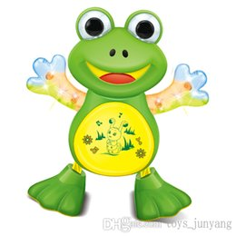 Wholesale New Interactive Toy Pets Electronic Singing Swing Dancing Walking Musical Electronic Pets Frog Duck Kitty Gift For Children