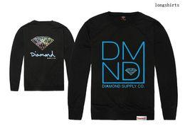 Men's Diamond supply co hip hop long sleeve cotton fashion t shirts logo printd man t-shirt high quality tee shirt free shipping