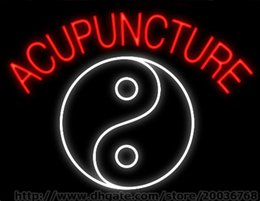 """Acupuncture Yin Yang Neon Sign Custom Real Glass Tuble Light Beer Bar Disco KTV Club PUB Display Store Advertisement Neon Signs 19""""x15"""""""