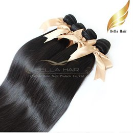 Peruvian Hair Extensions 1or2or3or4pcs lot Straight Hair Weaves Bellahair Hair Wefts&Weaves Bundle Full Hair DHL Free Shipping