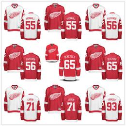 Wholesale 2016 NHL Detroit Red Wings Jerseys Niklas Kronwall Teemu Pulkkinen Danny DeKeyser Dylan Larkin Johan Franzen