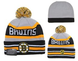 Wholesale BOSTON BRUINS Hockey Beanies Team Hat Winter Caps Popular Beanie Caps Skull Caps Best Quality Sports Caps Allow Mix Order