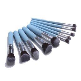 Mybasy Kabuki Cosmetics Foundation 10Pcs Makeup Brush Set