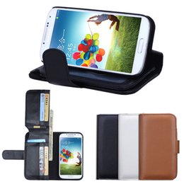 Wholesale Smart Cover For Galaxy S3 - Galaxy S5 S4 S3 I9600 I9500 I9300 Wallet Style Flip PU Leather Case with Photo Frame Card Holder Smart Stand Skin Bag Cover