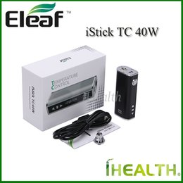 Wholesale Authentic Eleaf iStick TC W Mod mah Built in Battery w Temperature Control Mod Kit with eGo Connector USB cable Color Options