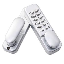 Wholesale Keyless Mechanical Digital Push Button Door Lock Zinc Alloy Home Entry