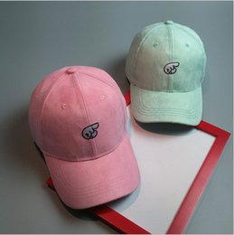 Wholesale 2016 Embroidered baseball cap tide wide finger guide curved eaves suede hip hop cap outdoor sun visor cap