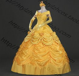 Wholesale Good quality Beauty And The Beast Belle et la Bete Belle Dress Cosplay Costumes Party Cosplay Dresses