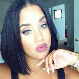 Best Sale Bob Wig Nstural Straight Brazilia Full Lace Human hair Short Wigs Bob For Black Women