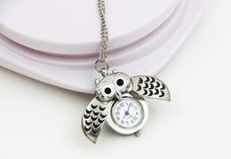 Wholesale Death Note New Relogios Femininos Retro Owl Sweater Pocket Watch Pendant Necklace Keychain Table Decoration H03 Ordinary Glass Mirror