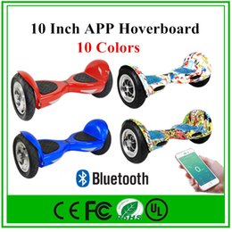 Wholesale 10 Inch APP Hoverboard Smart Balance Wheel Bluetooth Electric Scooter quot Electric Hover Board With LED Light UL Certification Fast Shipping