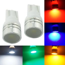 LEEWA 50pcs Car DC12V T10 194 168 W5W 1W Wedge LED Light Lamps With Ceramic Flat Lens 5-Color #4639
