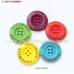 Wholesale colors Hand made heart engraving wooden button assortment craft sewing buttons mm BY023H