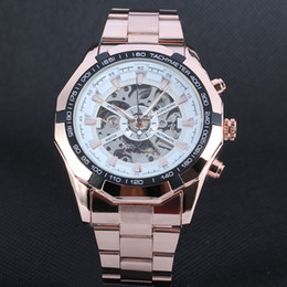 Wholesale Classic men s high quality multi scale atmospheric leisure nailed hollow three pin automatic mechanical watches steel ReiogioD201