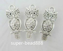 300Pcs Tibetan Silver Owl Charms Pendant For Jewelry Making Bracelet 21.5x9mm