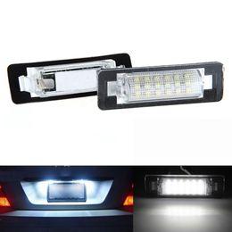 2x 18 LED Error Free Number License Plate Light Auto Lamp Car Light Source Fit For Mercedes Benz W210 W202 4D Sedan Facelifit