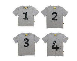 Wholesale DHL Baby Australia brand funny short sleeve t shirt girls boys birthday short Tee kids figure letter t shirt children cheap clothes