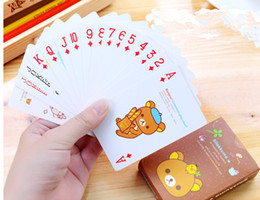 2 Sets Lot Lovely Cartoon Print Poker Card Standard Edition Family Fun Entermainment Board Game Kids Puzzle Game
