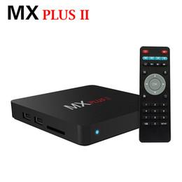 Wholesale RK3229 MX PLUS II K OTT Android tv box H Kodi Preinstall Rockchip Quad Core Android G G smart TV Box Better Than Old MXQ K BT p