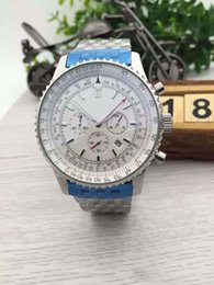 Special Sale Brein Quartz Watch Men Fluted Case White Big Dial Stainless Band Chronometer Navitimer 1884 Watch Montre Homme