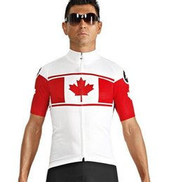 Wholesale Canada Flag Cycling Jersey Men Maillot Ciclismo Summer Quick Dry assos Fitness Jerseys Riding Bike Bicycle Clothing