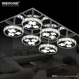 Descuento montaje en el techo accesorios de iluminación LED Lámpara moderna luminaria de la plaza redonda cristalina de la lámpara lamparas de techo LED ceiling montado a ras de iluminación de luz cocina Dormitorio