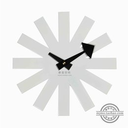 Wholesale Home Decor Designer Asterisk clock black white silence wall clock modern design wall decor wholesales